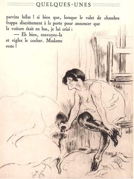 Louis LEGRAND (Francia, 1863 – 1951) – JEANNE OTANT SON SOULIER