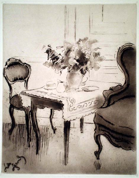 Louis LEGRAND (Francia, 1863 – 1951) – CHAISE, TABLE, FAUTEUIL