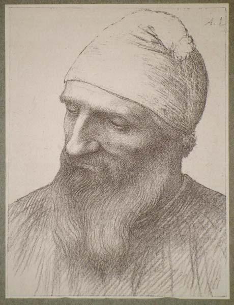 Alphonse LEGROS (Francia, 1837 – 1911) – TETE D'ETUDE
