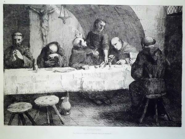 Alphonse LEGROS (Francia, 1837 – 1911) – LE REFECTOIRE