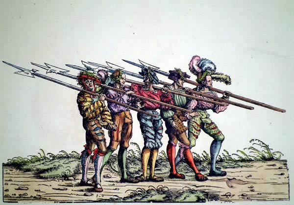 Hans BURGKMAIR (Baviera, 1473 – 1531) – UOMINI CON ALABARDE
