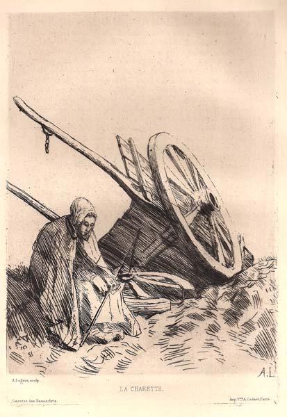 Alphonse LEGROS (Francia, 1837 – 1911) – LA CHARETTE