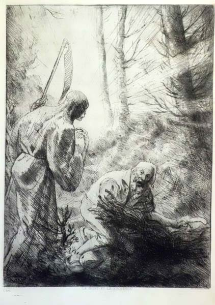 Alphonse LEGROS (Francia, 1837 – 1911) – LA MORT ET LE BUCHERON