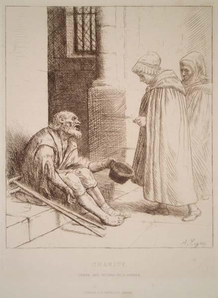 Alphonse LEGROS (Francia, 1837 – 1911) – CHARITY