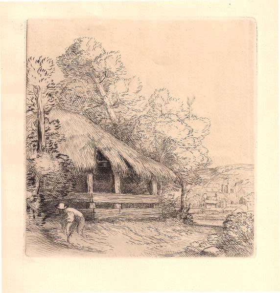Alphonse LEGROS (Francia, 1837 – 1911) – LE PETIT HANGAR (1837) – LEGROS Alphonse