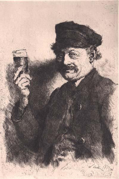Wilhelm LEIBL (Germania, 1844 – 1900) – DER TRINKER (1874)