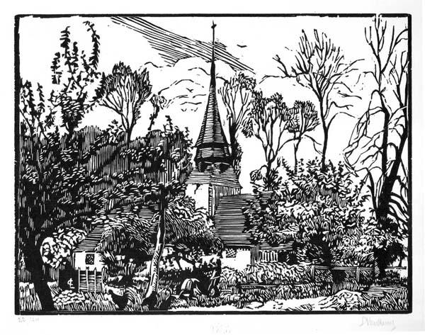 Georges LE MEILLEUR (Francia, 1861 – 1945) – AU MOULIN DABIN À LAFONTELAYE