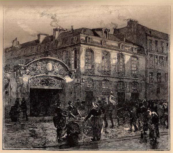 Auguste Louis LEPERE (Francia, 1849 – 1918) – LA MAISON DE BERANGER