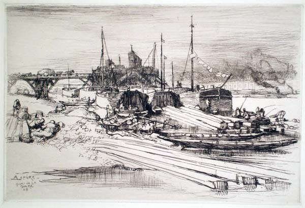 Auguste Louis LEPERE (Francia, 1849 – 1918) – QUAI DE LA GARE (1908)