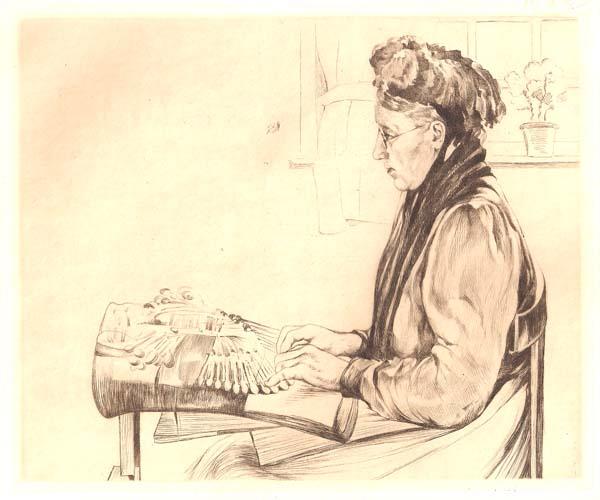 Emile LEQUEUX (Francia, 1871 – ?) – UNE DENTELLIERE À BRUGES