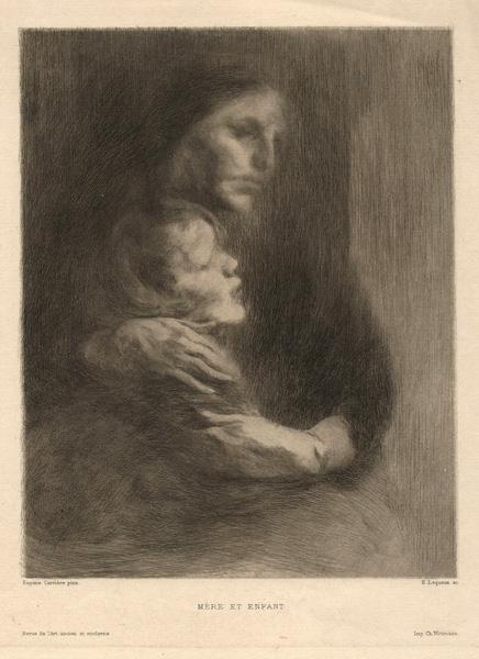 Emile LEQUEUX (Francia, 1871 – ?) – MERE ET ENFANT