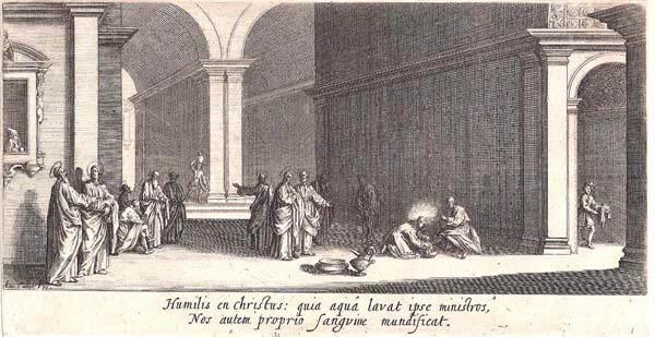 Jacques CALLOT (Lorena, 1592 – 1635) – LE LAVEMENT DES PIEDS