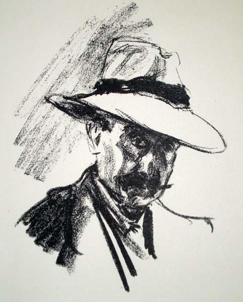 Max LIEBERMANN (Germania, 1847 – 1935) – SELBSTBILDNIS