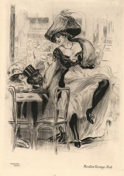Almery LOBEL-RICHE (Francia, 1877 – 1950) – MOULIN ROUGE BAL