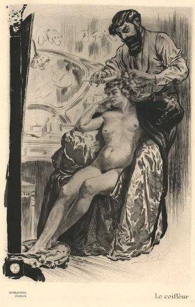 Almery LOBEL-RICHE (Francia, 1877 – 1950) – LE COIFFEUR