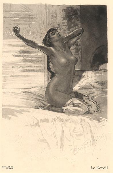 Almery LOBEL-RICHE (Francia, 1877 – 1950) – LE REVEIL