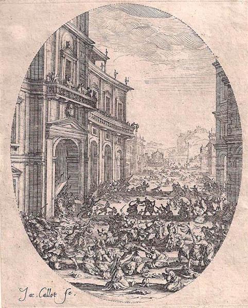 Jacques CALLOT (Lorena, 1592 – 1635) – LE MASSACRE DES INNOCENTS