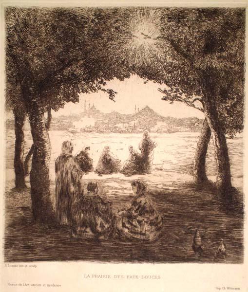 Alexandre LUNOIS(Francia, 1863 – 1916) – LA PRAIRIE DES EAUX-DOUCES