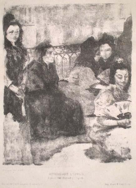 Alexandre LUNOIS(Francia, 1863 – 1916) – EN ATTENDANT L'OFFICE (1863) – LUNOIS Alexandre