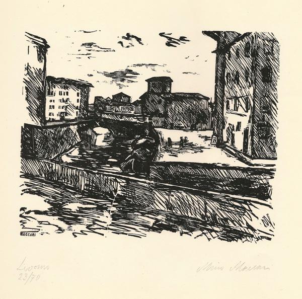 Mino MACCARI (Siena, 1898 – 1989) – LIVORNO