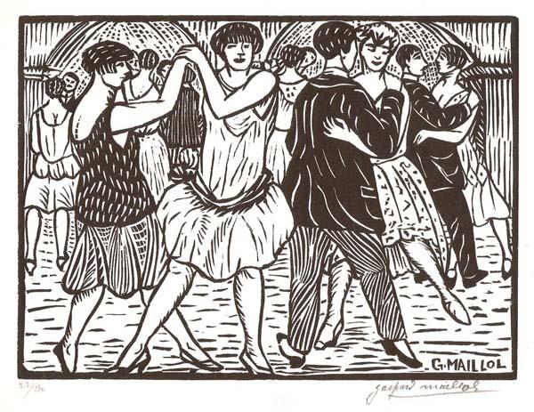 Gaspard MAILLOL (Spagna, 1880 – 1945) – DANSEURS ET DANSEUSE AU QUARTIER-LATIN