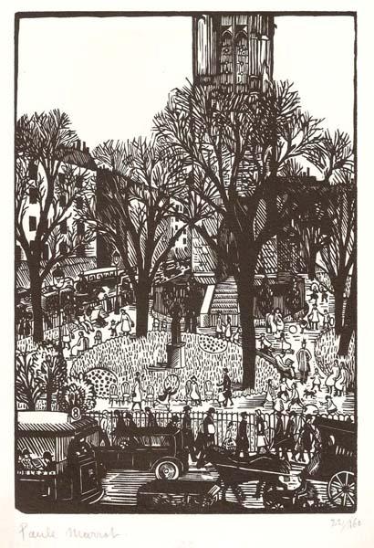 Paule MARROT (Francia, 1902 – 1887) – LE SQUARE DE LA TOUR ST-JACQUES