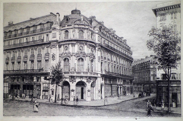 Adolphe MARTIAL Potemont (Francia, 1828 – 1883) – THEATRE DU VAUDEVILLE