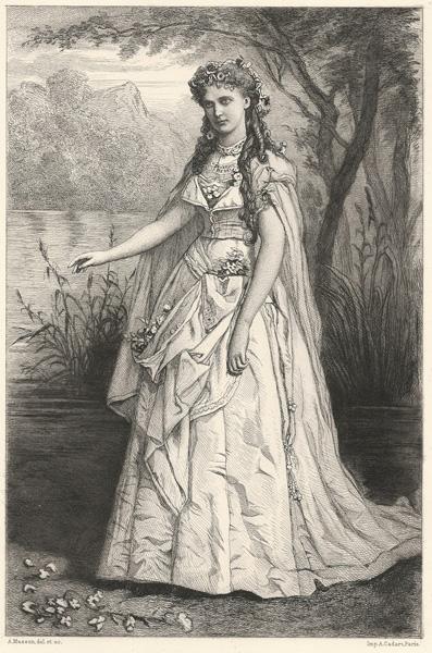 Alphonse-Charles MASSON (Francia, 1814 – 1898) – DAMA IN BIANCO