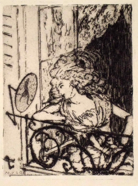 Hans MEID (Germania, 1883 – 1957) – DER SPION (DAME AM FENSTER) (1909)