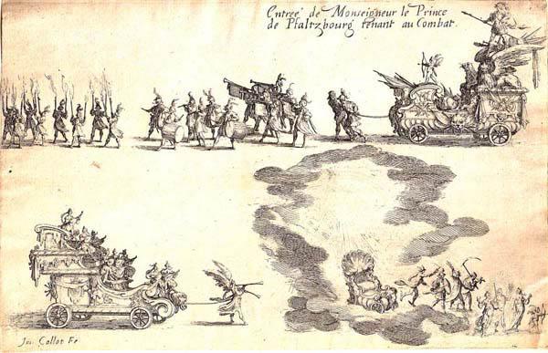 Jacques CALLOT (Lorena, 1592 – 1635) – ENTRÉE DU PRINCE DE PFALZBOURG