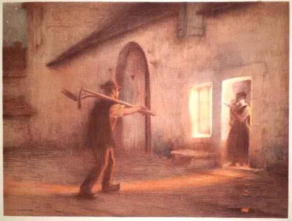 Jules Alexis MEUNIER (Francia, 1863 – 1942) – LE RETOUR DES CHAMPS