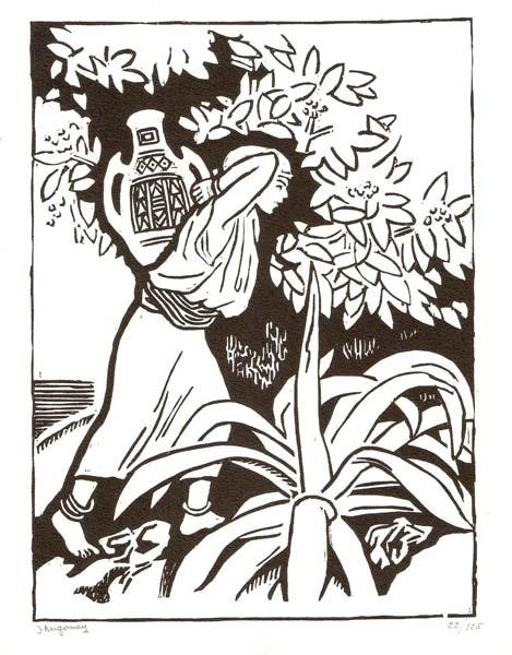 Jules MIGONNEY (Francia, 1876 – 1929) – JEUNE FILLE DE CABYLE