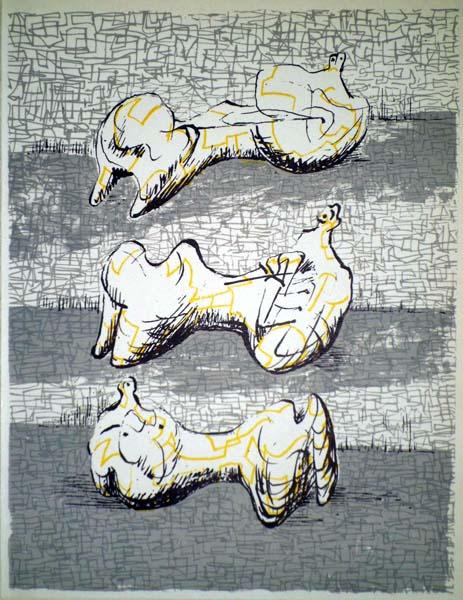Henry MOORE (Gran Bretagna, 1898 – 1986) – THREE RECLINING FIGURES (1972)