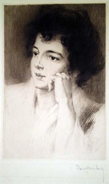 Daniel MORDANT (Francia, 1853 – 1914) – VOLTO DI DONNA