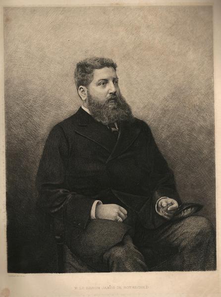Daniel MORDANT (Francia, 1853 – 1914) – M. LE BARON JAMES DE ROTHSCHILD