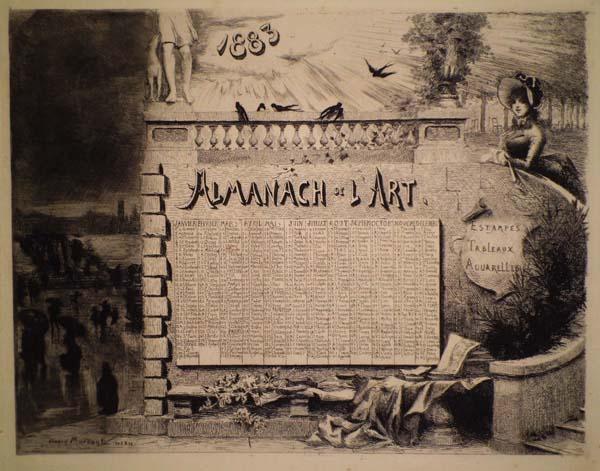 Daniel MORDANT (Francia, 1853 – 1914) – ALMANACH DE L'ART