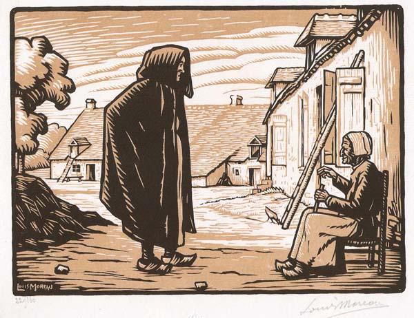 Louis MOREAU (Francia, 1883 – 1958) – VIEILLES BERRICHONNES
