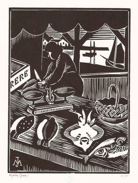 Jean-Alexis MORIN (Francia, 1877 – 1940) – MARCHANDE DE POISSON
