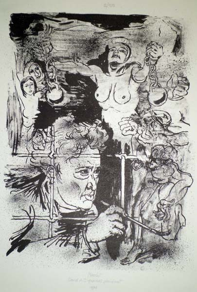 Gabriele MUCCHI (Torino, 1899 – 2002) – DAVIDA. SIQUEIROS GEWIDMET (1974)
