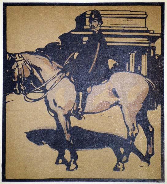 William NICHOLSON (Gran Bretagna, 1872 – 1949) – HORSE GUARD