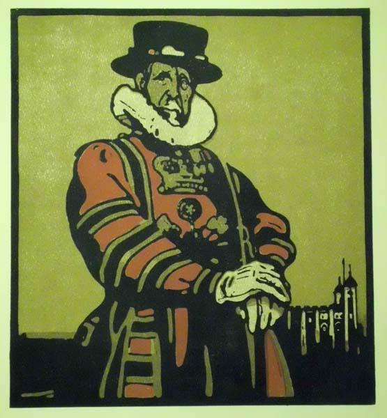 William NICHOLSON (Gran Bretagna, 1872 – 1949) – BEEFEATER