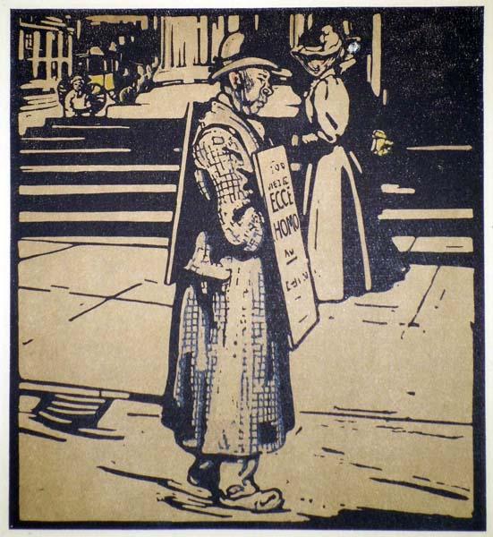 William NICHOLSON (Gran Bretagna, 1872 – 1949) – SANDWICH MAN