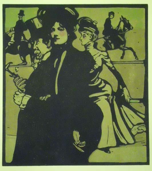 William NICHOLSON (Gran Bretagna, 1872 – 1949) – THE LADY AND THE SWELL