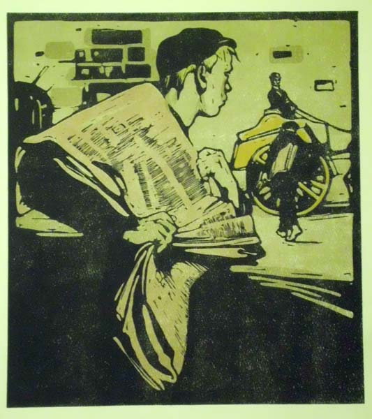 William NICHOLSON (Gran Bretagna, 1872 – 1949) – NEWSPAPER BOY