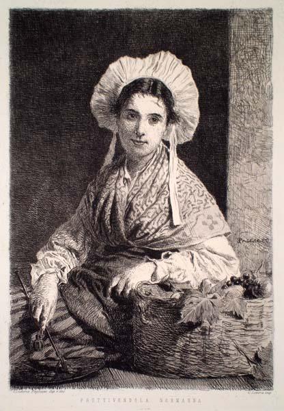 Eleuterio PAGLIANO (Casale Monferrato, 1826 – 1903) – FRUTTIVENDOLA NORMANNA