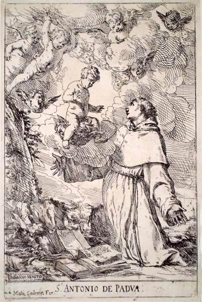 Giulio CARPIONI (Venezia, 1613 – 1679) – S. ANTONIO DA PADOVA