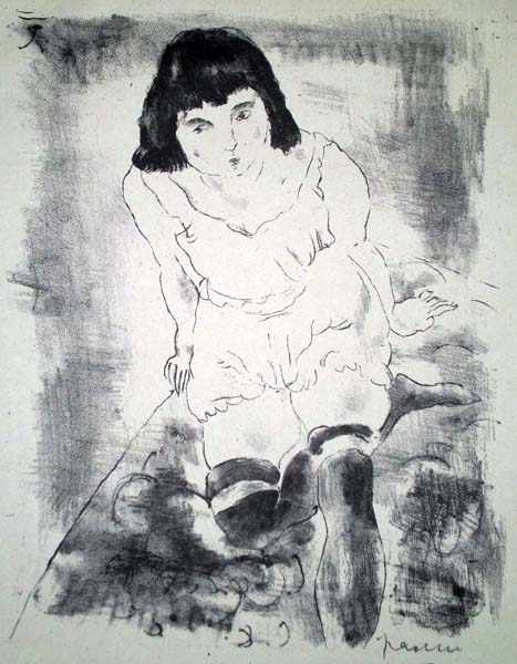 Jules PASCIN (Bulgaria, 1885 – 1930) – LE LEVER (1925)