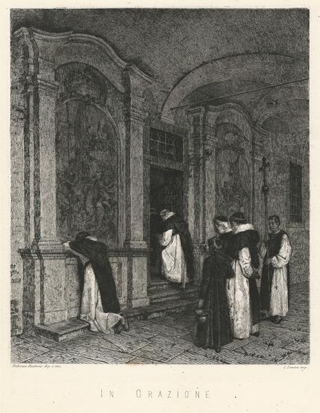 Federico PASTORIS (Asti, 1837 – 1884) – IN ORAZIONE