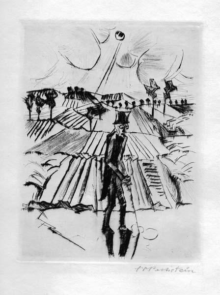 Hermann Max PECHSTEIN (Germania, 1881 – 1955) – DER SCHATTEN