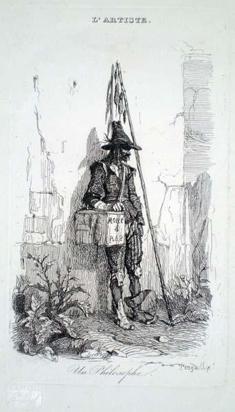Octave PENGUELLY-L'HARIDON (Francia, 1811 – 1872) – UN PHILOSOPHE (LE CHASSEUR DE RAT)